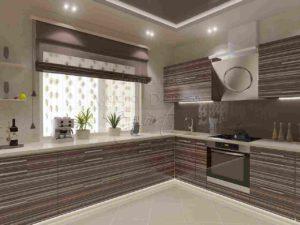 Готовая кухня Сиена цвет зибрано серый
