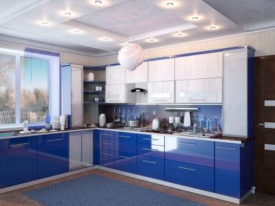 Готовая кухня Сиена синяя