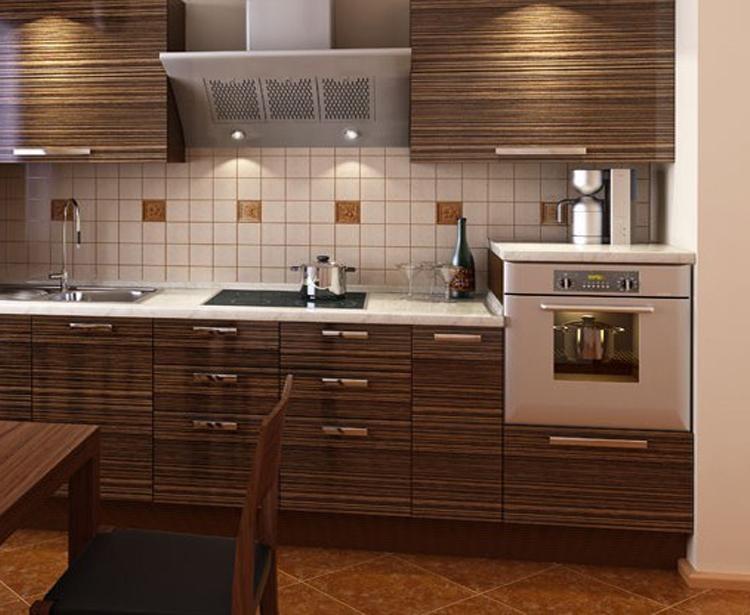 Готовая кухня Сиена цвет зибрано коричневый