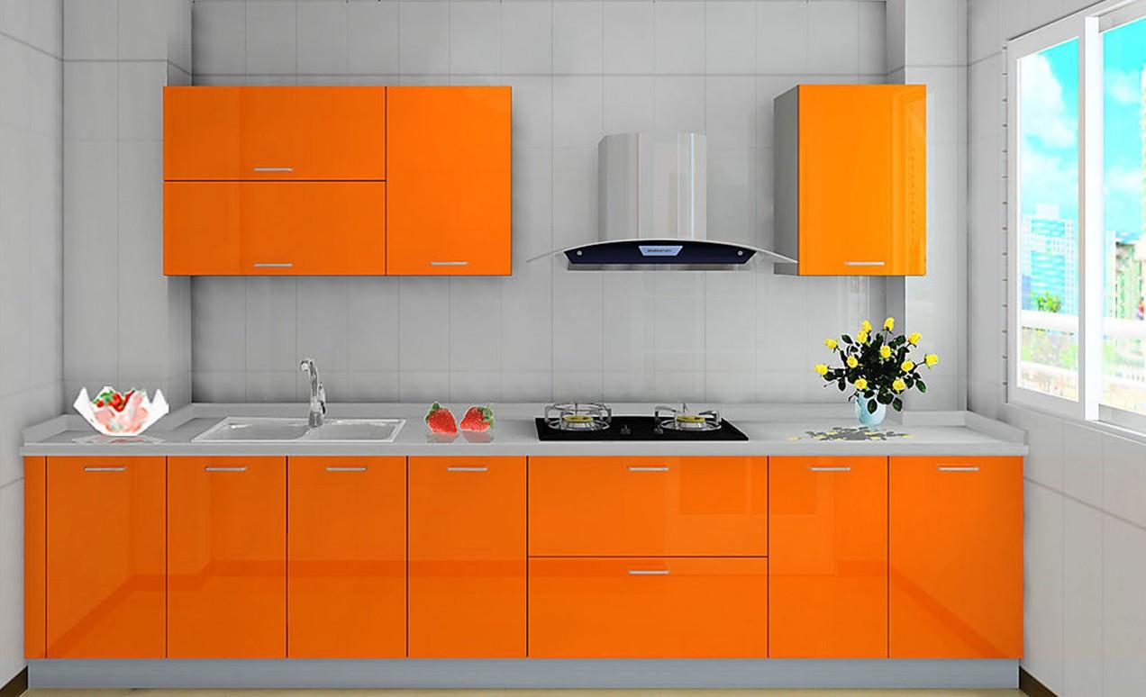 Готовая кухня Сиена цвет оранжевый