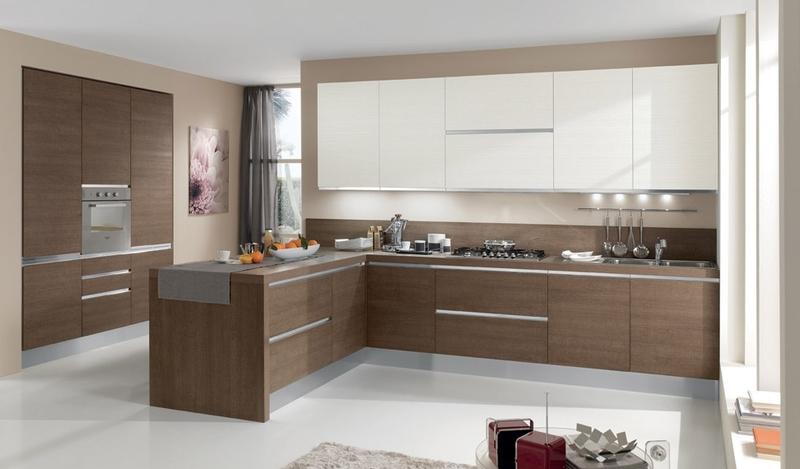 Кухня Сиена в стиле минимализм / белая