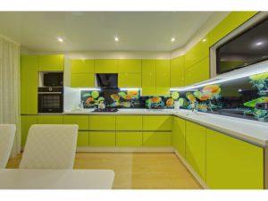 Кухня Сиена фисташковая с фурнитурой Boyard