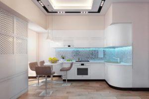 Кухня Орнелла с австрийской фурнитурой Blum / белая