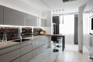 Кухня Рома серый