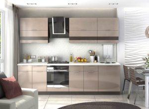 Кухня Сиена темно бежевая