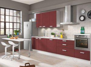 Кухня Сиена красная с 3D акрилом