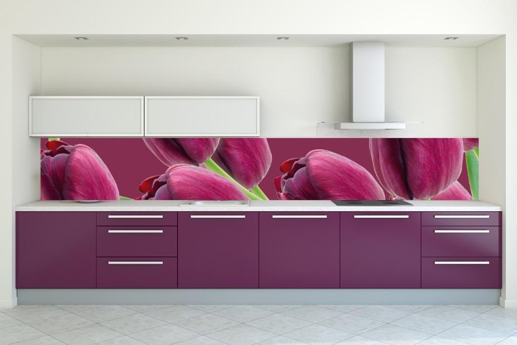 Кухня Сиена с фасадом Fundermax / фиолетовая