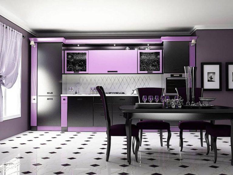 Кухня Сиена из МДФ / фиолетовая