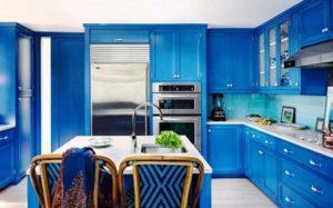 Кухня Модена с австрийской фурнитурой Blum / синяя