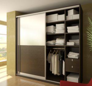 2-х дверный шкаф-купе в спальню