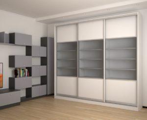 Прямой шкаф-купе в спальню