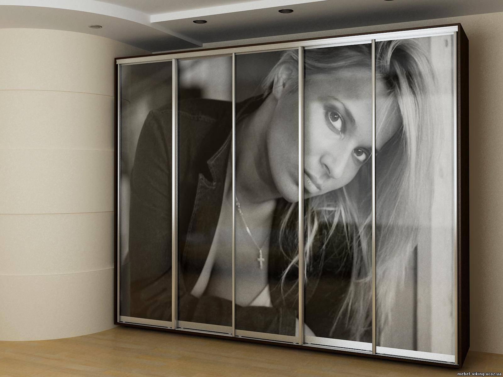 Встраиваемый шкаф-купе с фотопечатью
