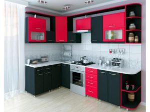 Кухня Орнелла с фурнитурой Boyard / красная