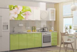 Кухня Сиена с фотопечатью и 3D акрил