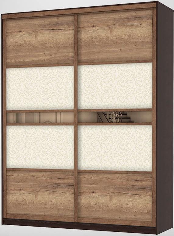 2-х дверный шкаф-купе с зеркалом