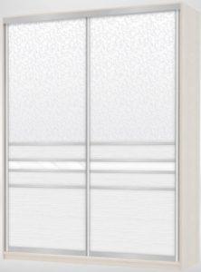 Белый шкаф-купе из экокожи