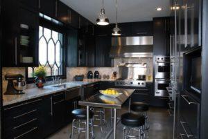 Кухня Сиена 3D акрил / черная