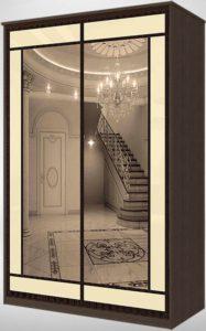 2-х дверный шкаф-купе с зеркалом в стиле модерн