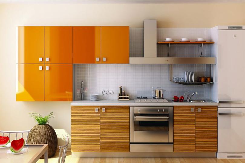 Кухня Сиена с фасадом Сидак и 3D акрил