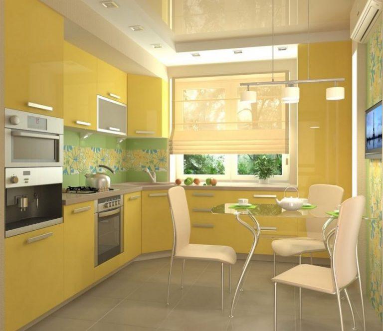 Кухня Сиена с австрийской фурнитурой Blum / желтая