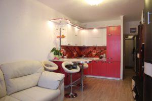 Кухня Сиена с фасадом Сидак / красная