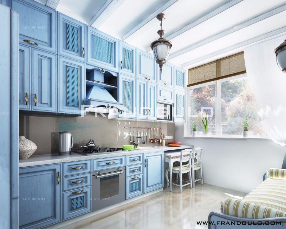Кухня Модена / голубая
