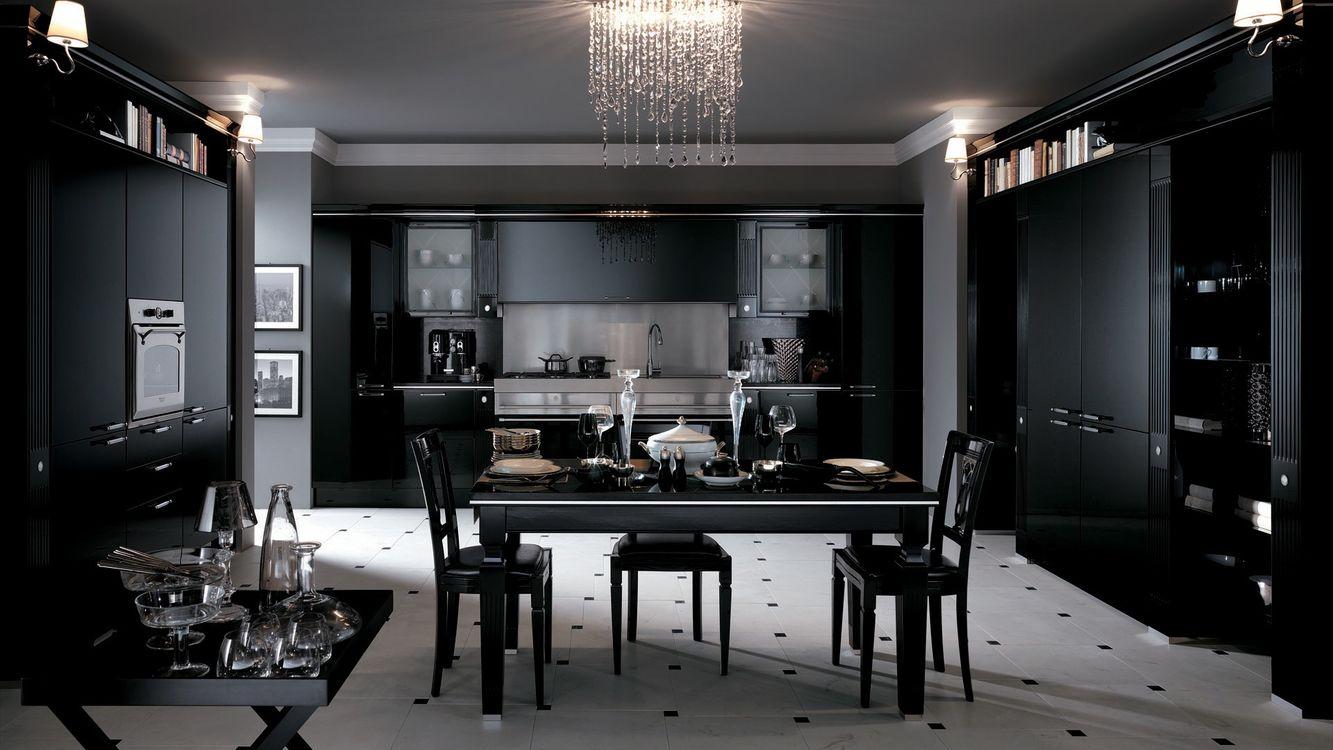 Кухня Сиена с матовой отделкой / черная