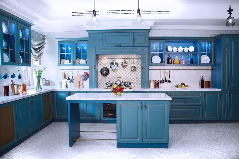 Кухня Модена с островом