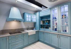 Кухня Модена с фасадом Сидак / голубая