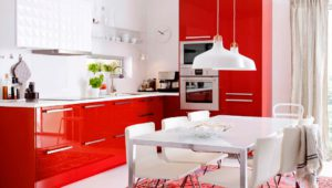 Кухня Сиена с фасадом SMART / красная