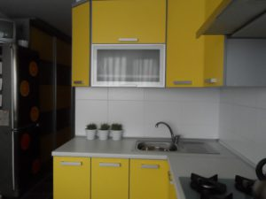 Кухня Сиена с матовой отделкой / желтая