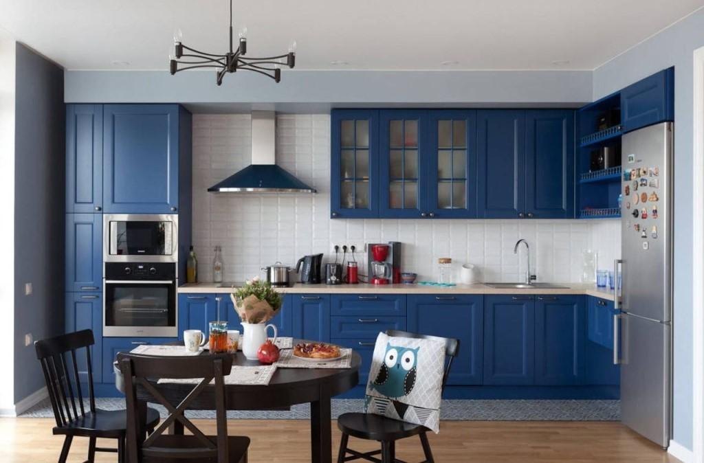 Кухня Орнелла / голубая