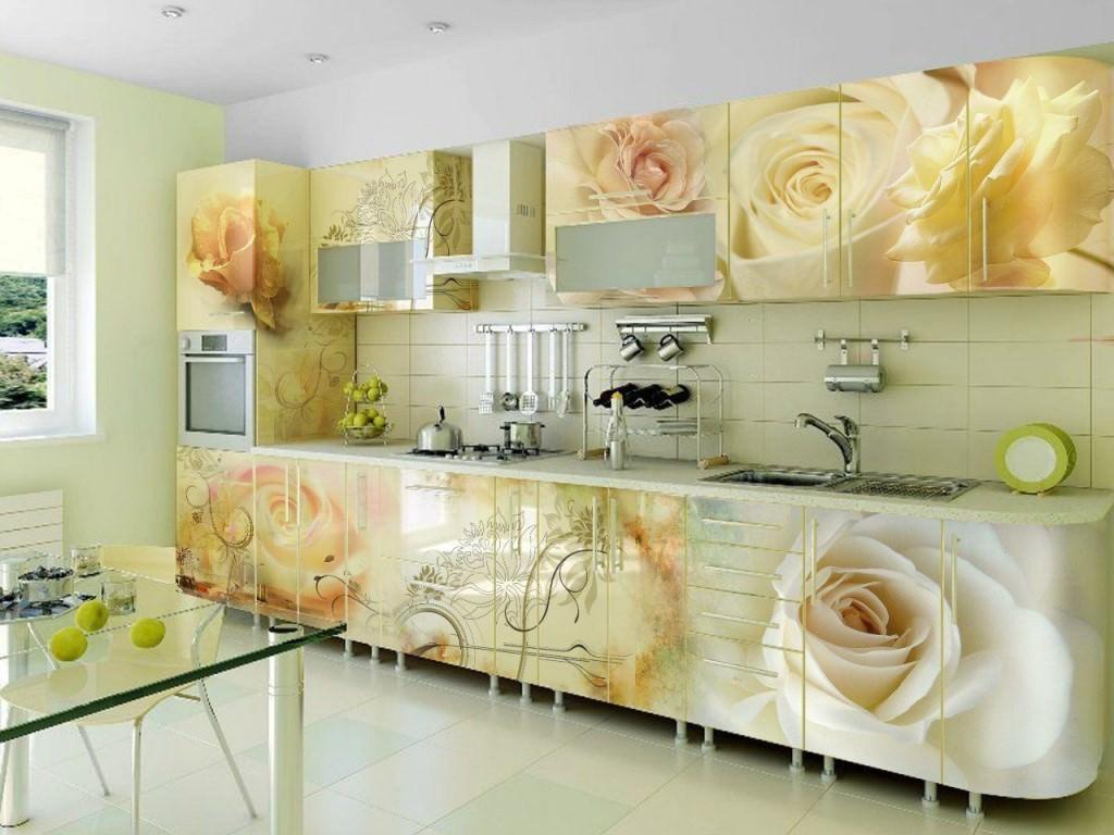 Кухня Сиена из МДФ с фотопечатью