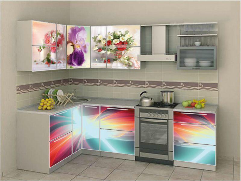 Кухня Сиена с австрийской фурнитурой Blum и 3D акрил / фотопечать