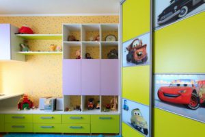 Шкаф-купе с фотопечатью в спальню