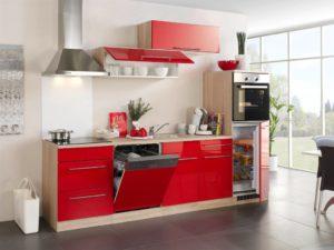 Кухня Сиена в стиле минимализм / красная