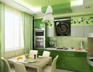 Кухня Сиена 3D акрил / зеленая