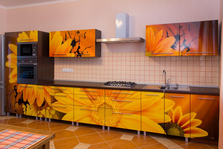 Кухня Сиена с австрийской фурнитурой Blum / фотопечать