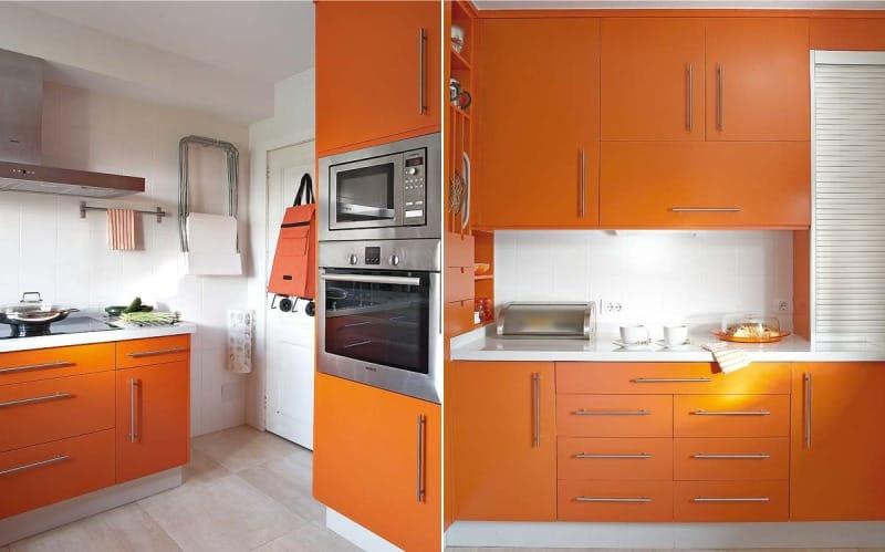 Кухня Сиена с фурнитурой Blum / оранжевая