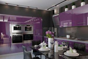 Кухня Сиена с глянцевой отделкой / фиолетовая