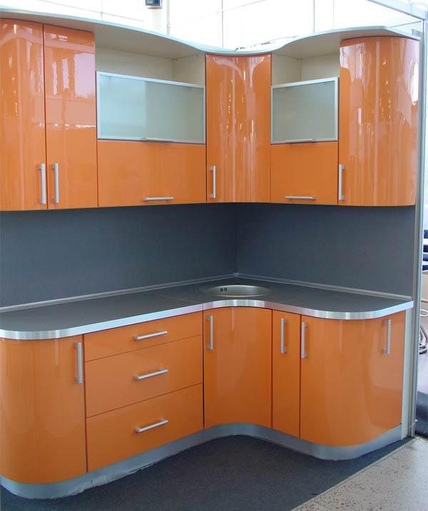 Кухня Орнелла / оранжевая