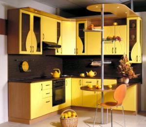 Кухня Сиена с фасадом SMART / желтая