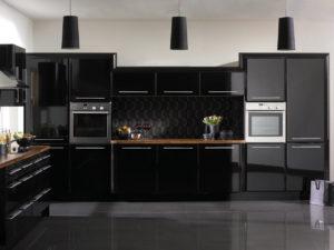 Кухня Сиена с фурнитурой Blum / черная