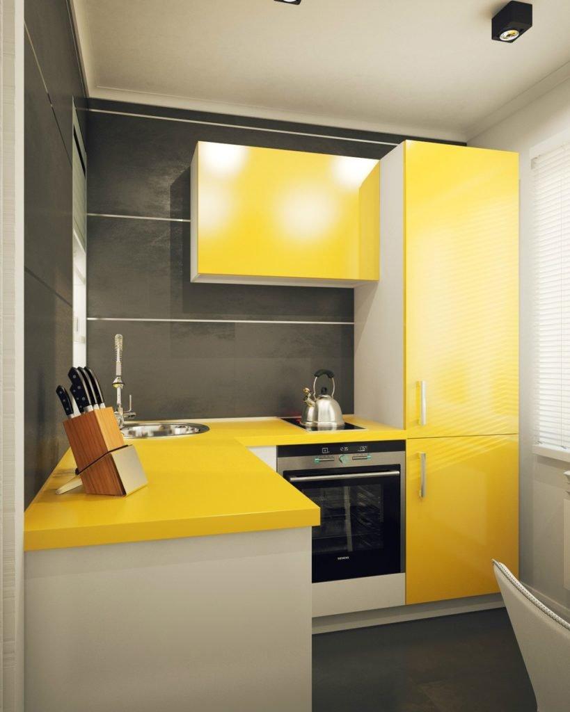 Кухня Сиена с фасадом Сидак / желтая
