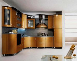 Кухня Сиена в современном стиле с фасадом Сидак