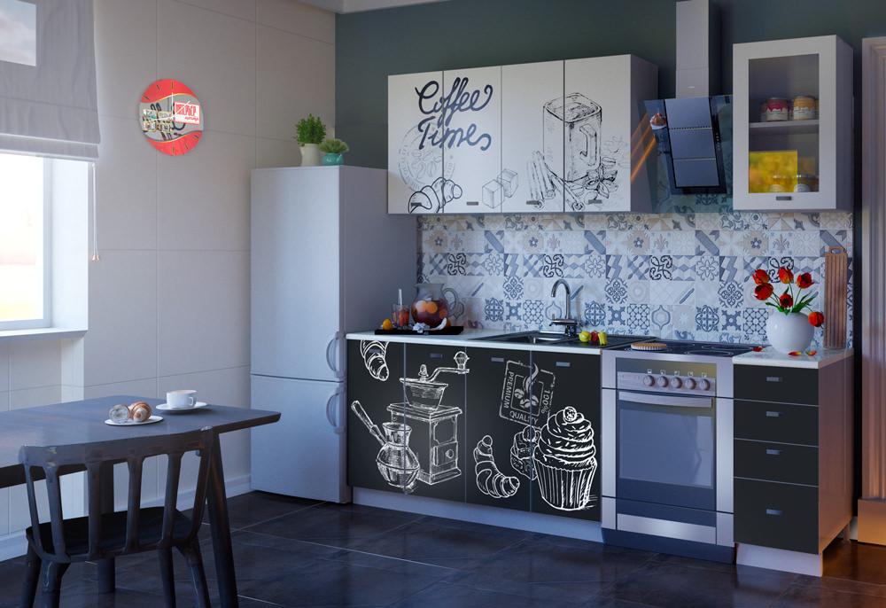 Кухня Сиена с фурнитурой Boyard / фотопечать