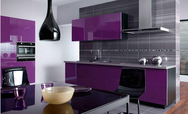 Кухня Сиена в современном стиле / фиолетовая