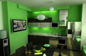 Кухня Сиена с фурнитурой Boyard / зеленая