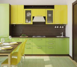 Кухня Сиена в стиле минимализм / зеленая